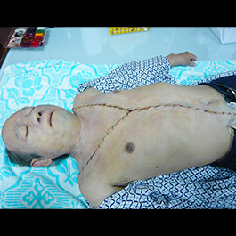 2015「鑑識英雄」男浮屍Y字型胸腔切口特效化妝 Prosthetics Make-up Effects of sutured Y-shaped incision (TV Series CSIC)