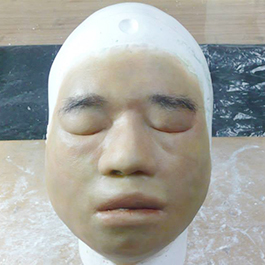 2015「鑑識英雄」男浮屍特效化妝矽膠臉皮 Special make-up prosthetics of floating corpse (TV Series CSIC)