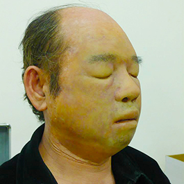 2015「鑑識英雄」男浮屍上妝中 Makeup process of floating corpse